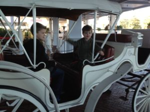 kids in carriage