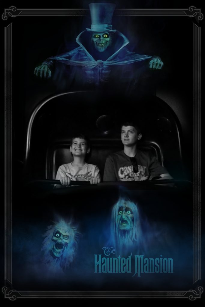 Aidan and Jennings in Haunted Mansion